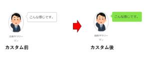 CSSコードでテキストの背景変更後と変更前の画像