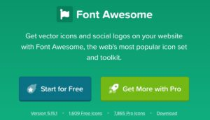 font awesomeのトップ画像